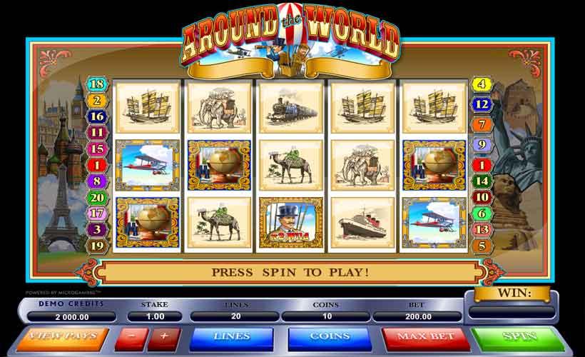 Играй онлайн бесплатно Мечты сбываются,особенно с игровым автоматом «Вокруг Света»